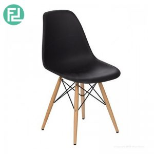 Clearence- DORIS Plastic Dining Chair Designer Chair- Black (Last 6pcs)