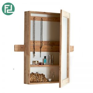 BUSAN solid wood mirror box with key chain holder