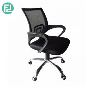 Furniture Direct breathable mesh office Chair with chrome leg - black
