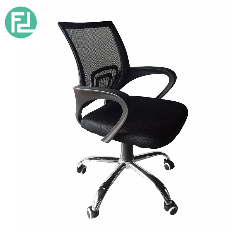Furniture Direct Breathable Mesh Office Chair With Chrome Leg Black Furnituredirect Com My
