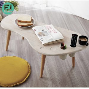 FOOT shaped solid wood coffee table with holder