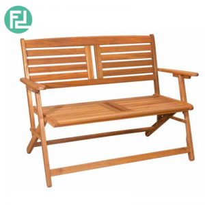 LOUISE full solid acacia wood outdoor folding bench
