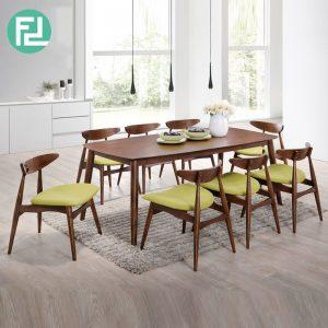 MANCHESTER solid wood 8 seater dining set-walnut