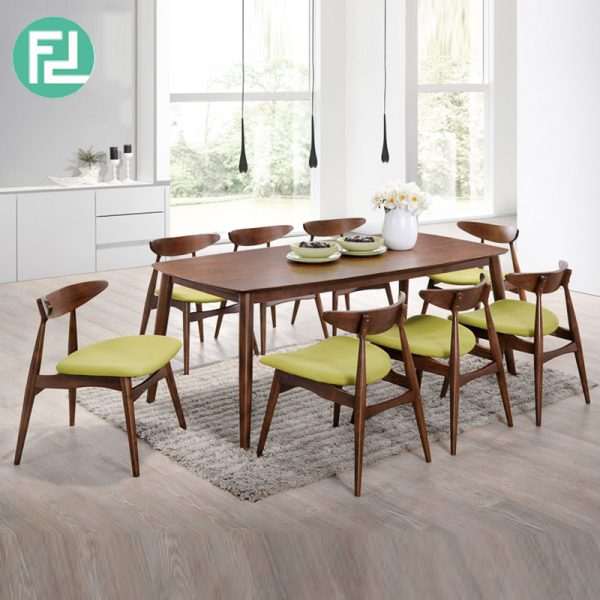 Manchester Solid Wood 8 Seater Dining Set Walnut