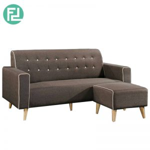 MONTANA water resistant fabric L shaped sofa-brown
