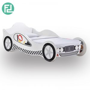 CLASSIC car kids bed-white