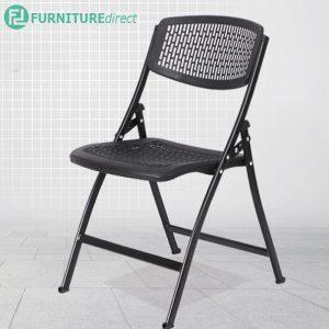 S567 MARATHON heavy duty metal folding chair- black