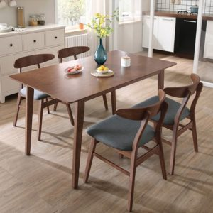 SHIBUYA 4 Seater solid wood dining set-walnut