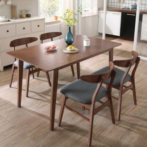 SHIBUYA 4 Seater solid wood dining set-walnut