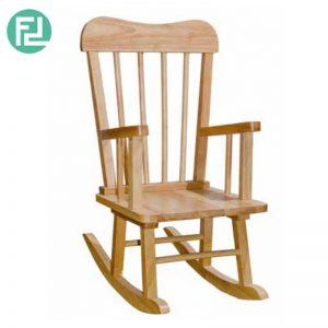 TIVOLI nursery solid wood kids rocking chair-natural