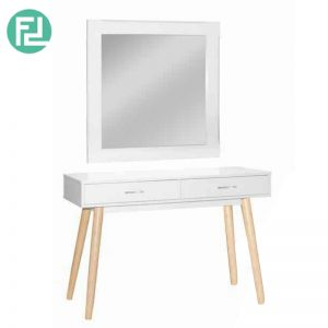 ZURICH solid wood dressing table with mirror