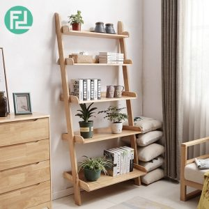 POLO full solid wood 5 tier wall rack-natural