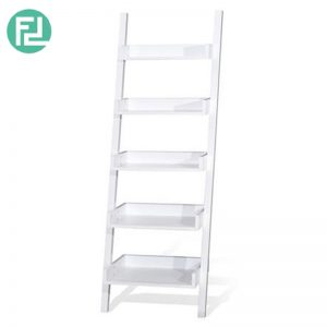 POLO full solid wood 5 tier wall rack-white