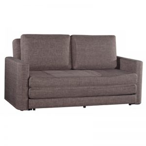 YORK washable sofa bed with recliner function-brown