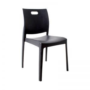 Stackable Air Chair Designer Plastic Chair-Black