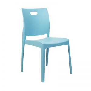 Stackable Air Chair Designer Plastic Chair-Turquoise