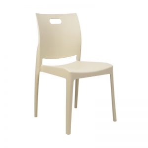 Stackable Air Chair Designer Plastic Chair-Cream
