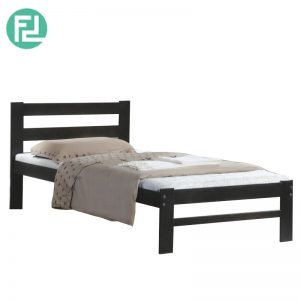 OAKLAND full solid single bed- cappucino