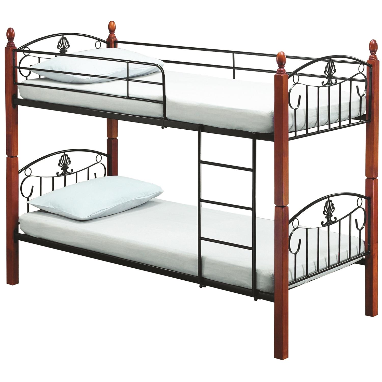 Picture of: Darren Wooden Post Double Decker Bunk Bed Furnituredirect Com My