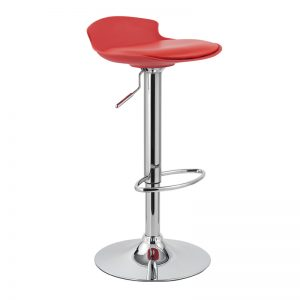 CHICAGO adjustable PU seater barstool-Red