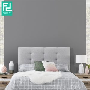ANYA single size waterproof fabric divan bed-grey