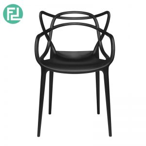 ARCHIE stackable designer PP plastic chair-black