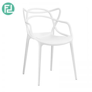 ARCHIE stackable designer PP plastic chair-white
