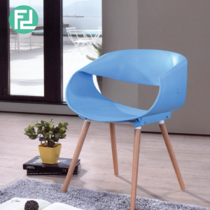 HARRY PP material plastic designer chair-blue