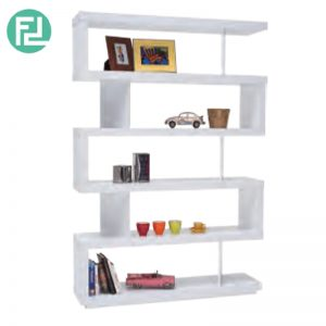 RUDY 3ft divider wall shelf display cabinet- 2 colors