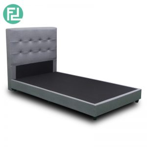 "BEKKER super single size 3 1/2"" waterproof fabric divan bed-Grey"