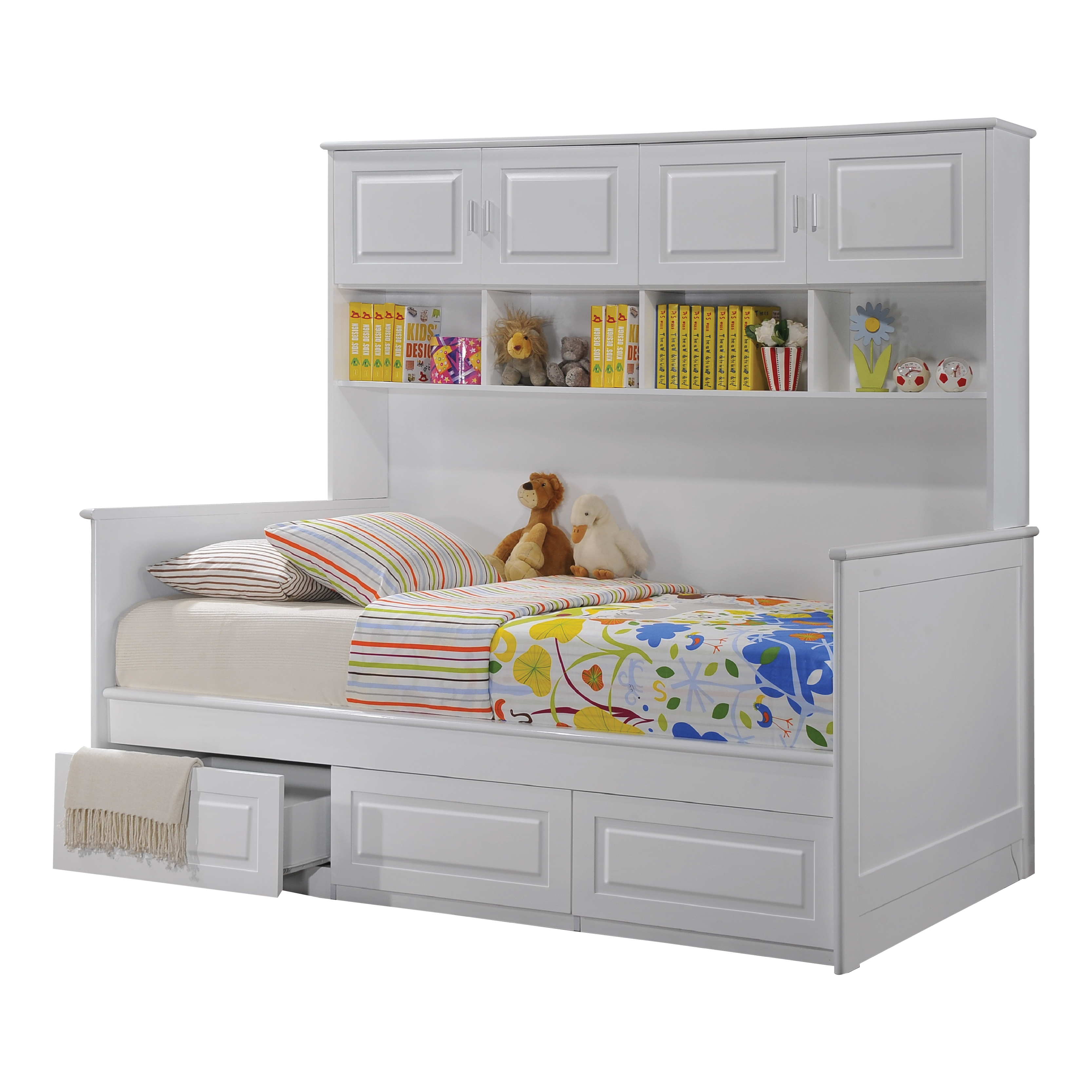 Virginia Daybed With Drawer Storage Cabinet White