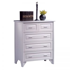 VIRGINIA solid wood 2 over 3 chest of drawers- white