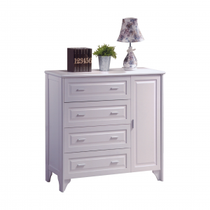 VIRGINIA solid wood 4+1 drawer chest-white