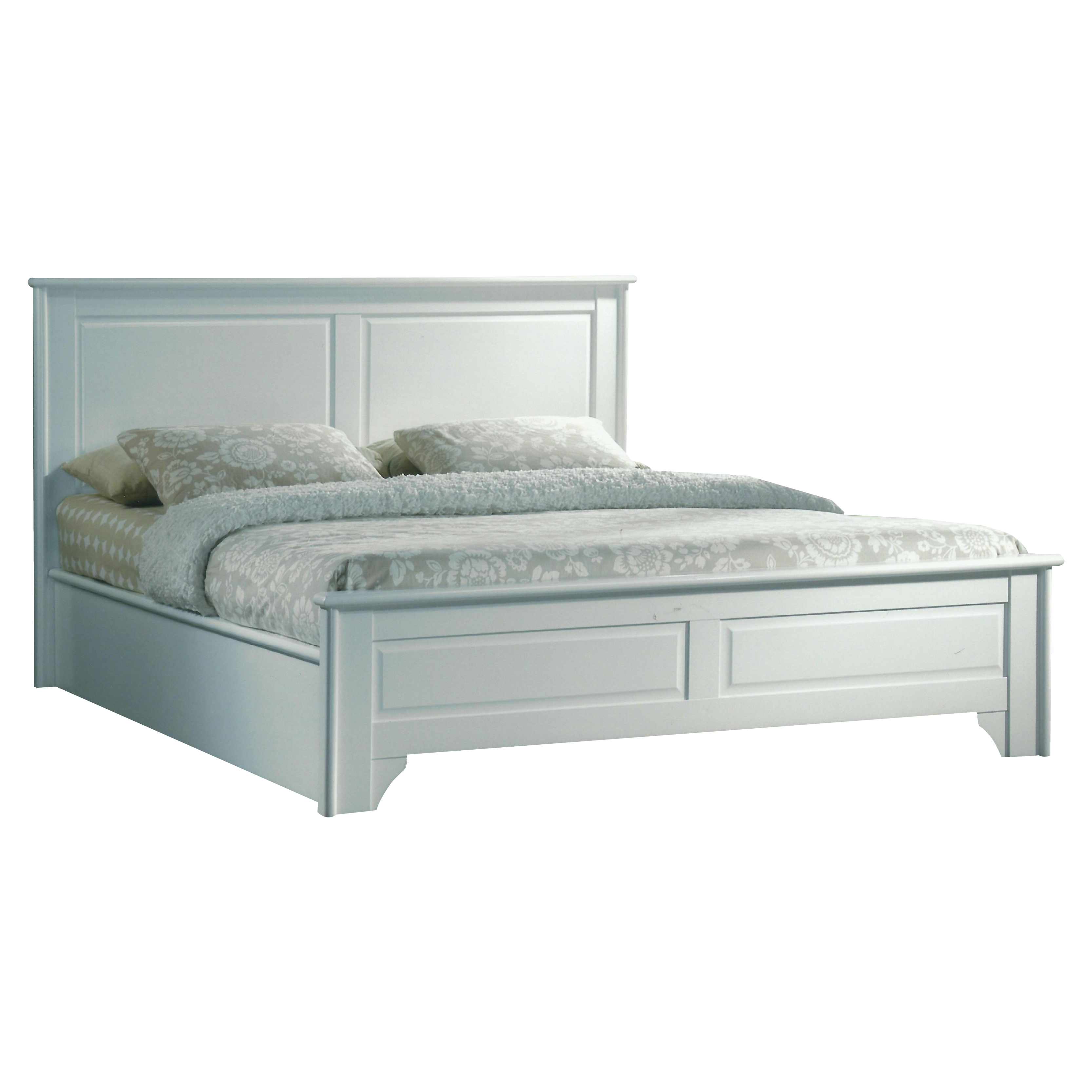 VIRGINIA queen size solid wood bedframe-white - FurnitureDirect.com.my