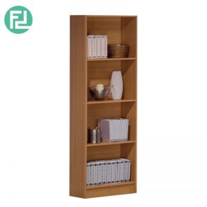 BS556-A 4 tier bookcase-Antique Oak