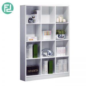 BS563-WH 3x4 bookcase-white