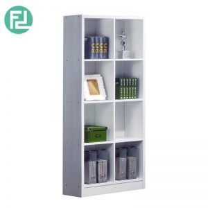 BS562-WH 2x4 bookcase-white
