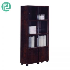 BS702004 compact glassdoor bookcase filling cabinet - wenge