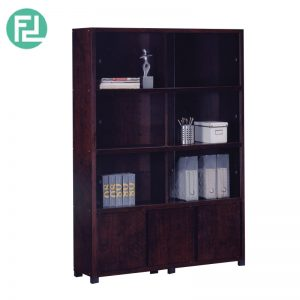 BS702005 4 feet bookcase filling cabinet with glass door- Wenge