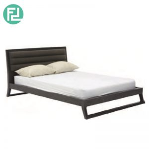 CALUM queen size fabric bed frame-black