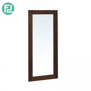 DAFFODIL solid wood rectangular mrror-cappucino