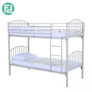 DAKER metal double decker bunk bed-silver