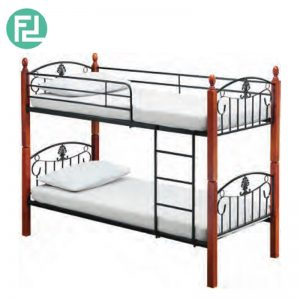 DARREN wooden post double decker bunk bed