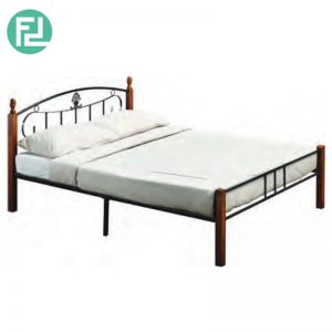 DARREN wooden post queen size metal bed frame
