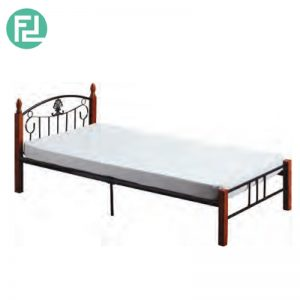 DERRICK wooden post single size metal bedframe