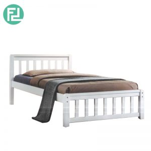 ECON single size wooden bedframe-white