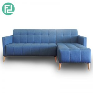 CNY Deal- EMILY fabric L shaped sofa-Blue