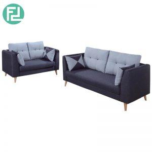 RUBY 2+3 seater scandinavian fabric sofa-blue