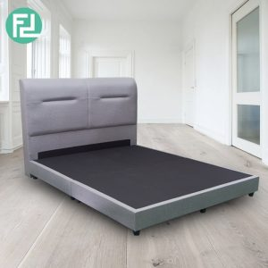 HOLSEN queen size waterproof fabric divan bed-Grey