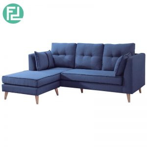 IVY 3 seater washable cover L shaped sofa-blue